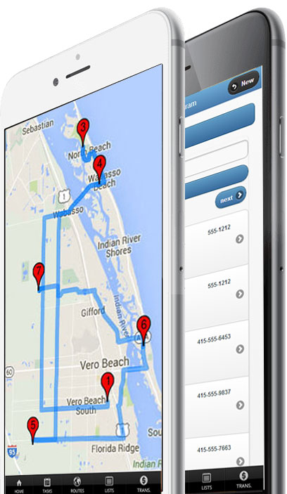 map stops and details screenshot on mobile devices