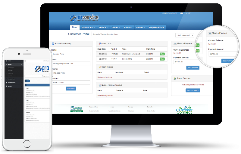 Pool Service Software with Customer Portal