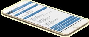Quickbooks Landscape management software shown on mobile phone