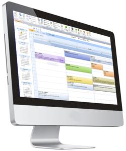 Landscaping Scheduling Software shown on desktop