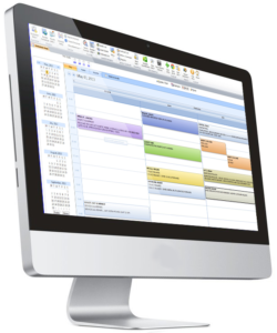Snow removal scheduling software calendar view shown on the desktop