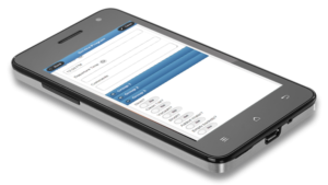 Plumbing Service Maintenance Software Checklist shown on mobile device