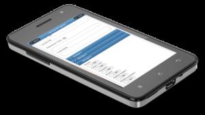 Construction Management Maintenance Software checklist shown on mobile device