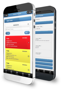 General Service Work Order Management Software shown on mobile devices