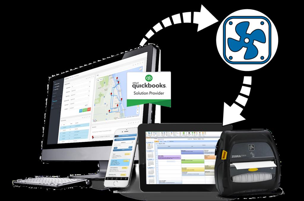 HVAC Service Software on desktop and mobile app