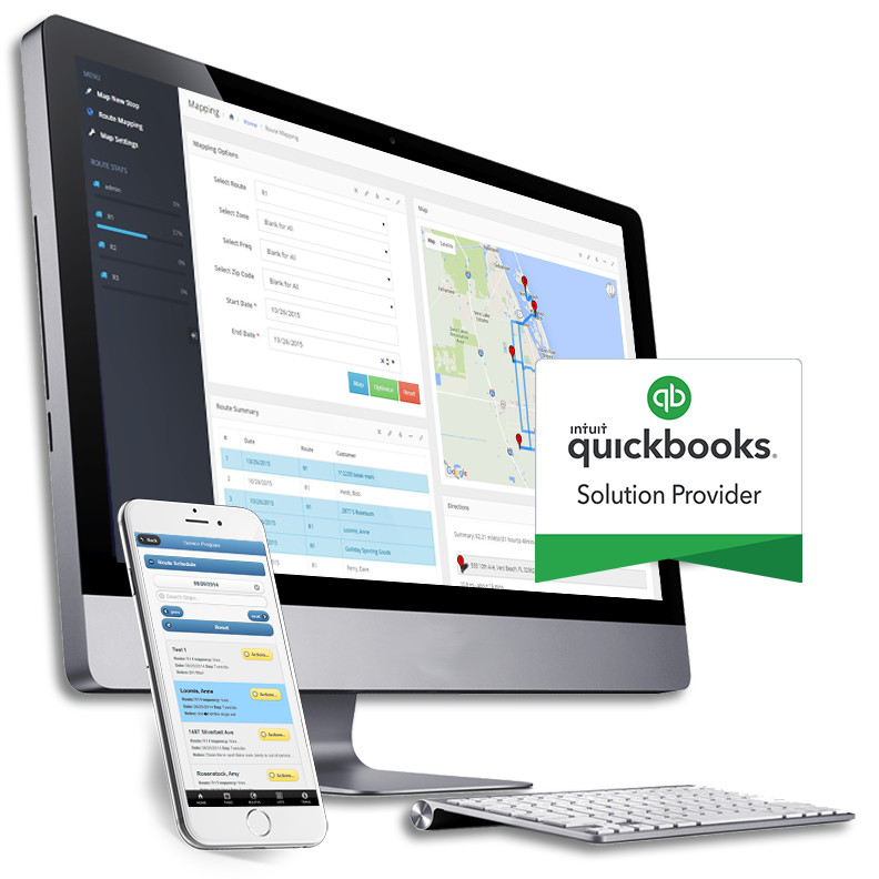 QuickBooks Service Business Software on desktop and mobile device