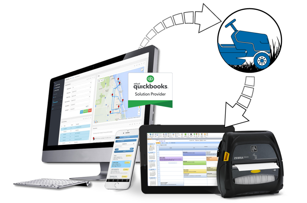 lawn care software route mapping & scheduling